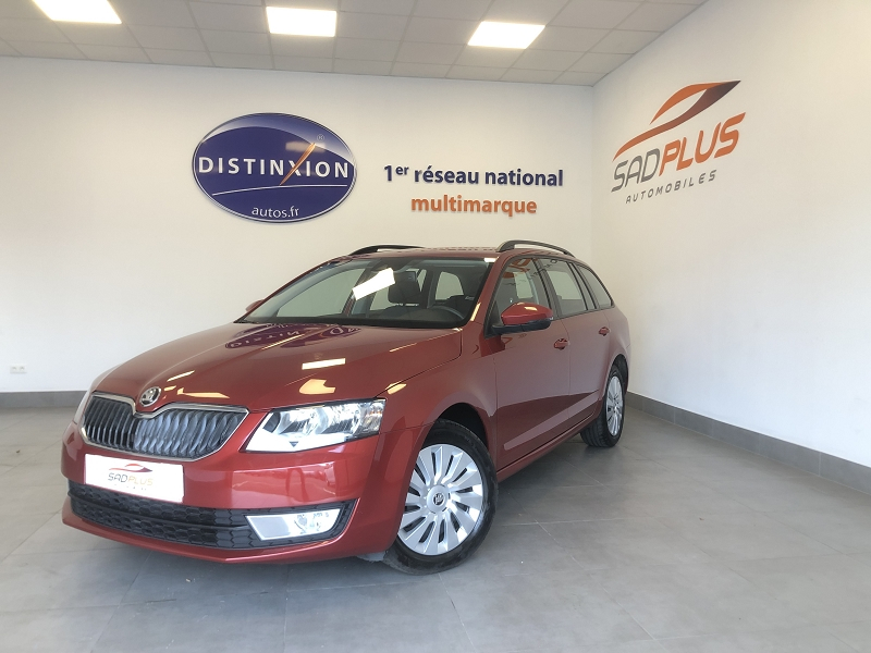 Skoda OCTAVIA BREAK 1.6 TDI 110CH CR FAP GREEN TEC BUSINESS Diesel ROUGE Occasion à vendre